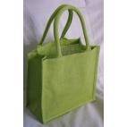 Jute mini bag limegrön