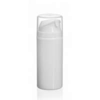 Vit airlessflaska med skyddslock, 100 ml