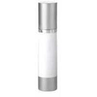 Airlessflaska i vitt och silver 100 ml