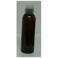 Brun flaska i PET med transparent kapsyl 100 ml