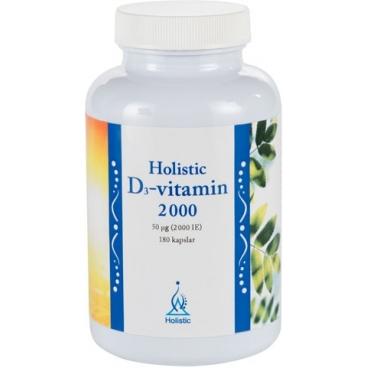 D3-vitamin 2 000 IE 180 kaps - Holistic